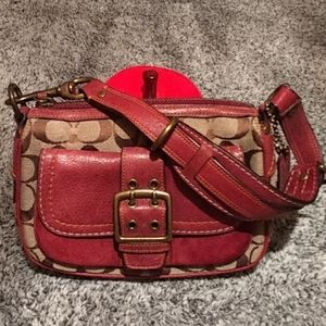 Authentic Coach brown/suede small-med bag